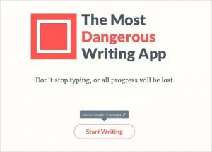The Most Dangerous Writing App