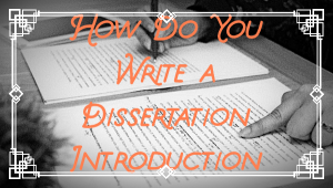 how to write dissertation introduction